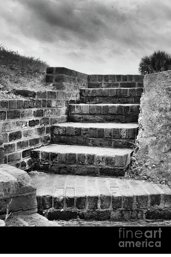 Stairs In Black And White Photograph