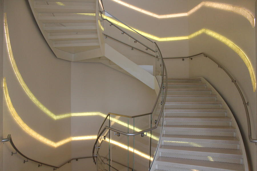 Madison Photograph - Stairs, Overture Center by Callen Harty