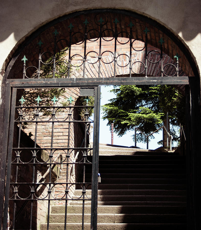 Stairs To The Unknown Through The Gate Of Knowledge Photograph