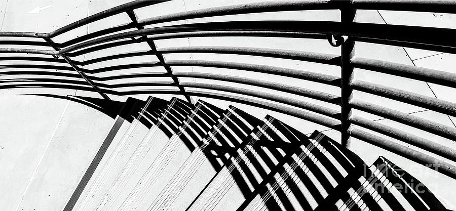 Stairway And Shadow Horizontal Photograph
