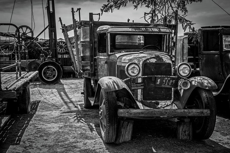 Bard Photograph - Stakebed Truck by Jack and Darnell Est
