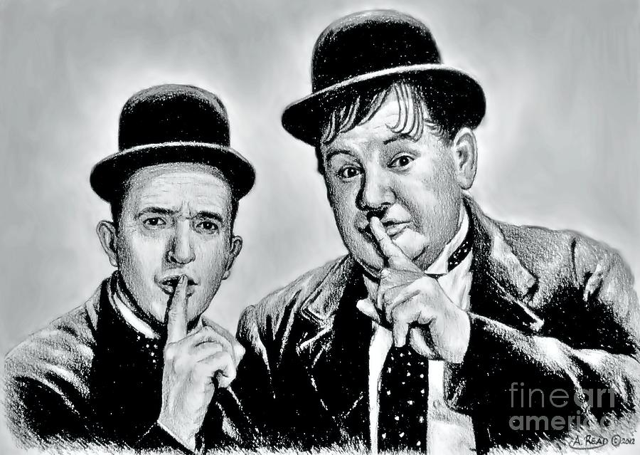Stan And Ollie Wash Edit Drawing