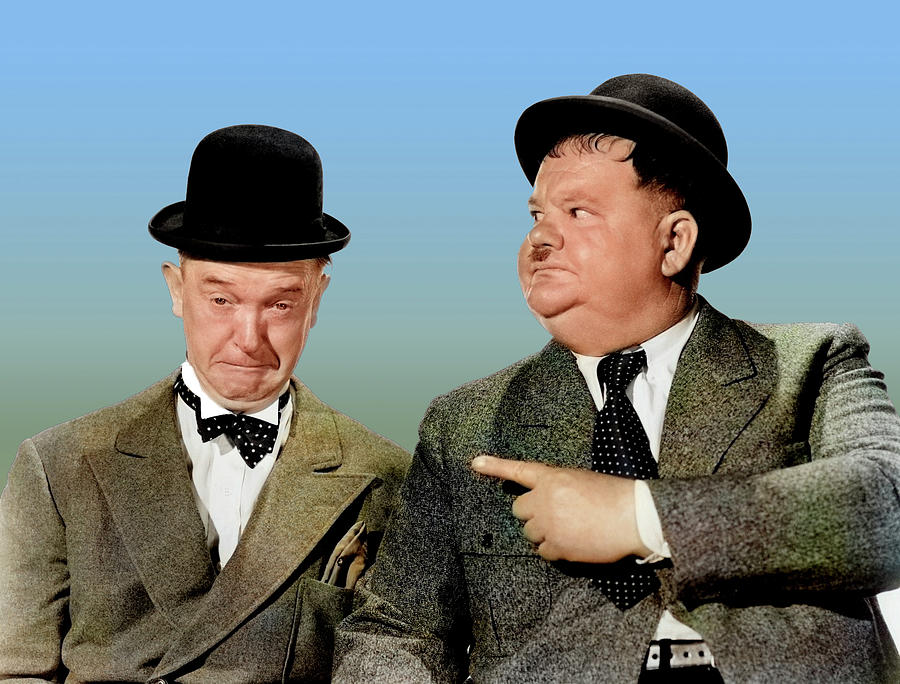 Stan Laurel And Oliver Hardy Photograph