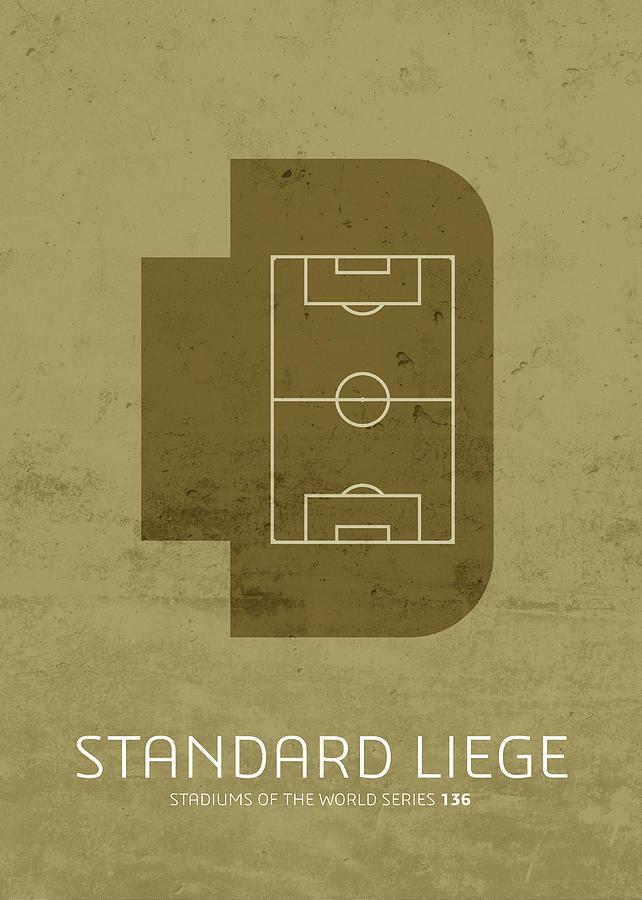 Standard Mixed Media - Standard Liege Stadium Football Soccer Series by Design Turnpike