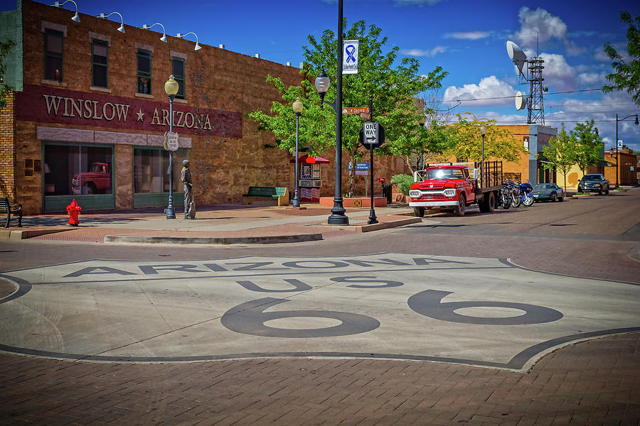 Rt 66 Photograph - Take it Easy by Jack and Darnell Est