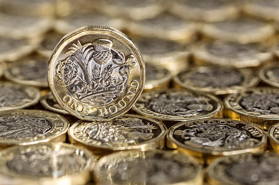 Standing alone one pound coin Photograph by Viktoria  Rodriguez