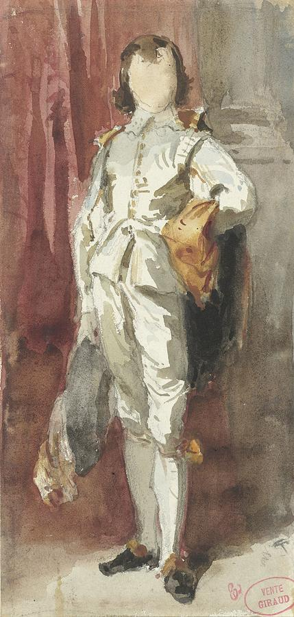 Standing Boy In Van Dyck Costume Painting