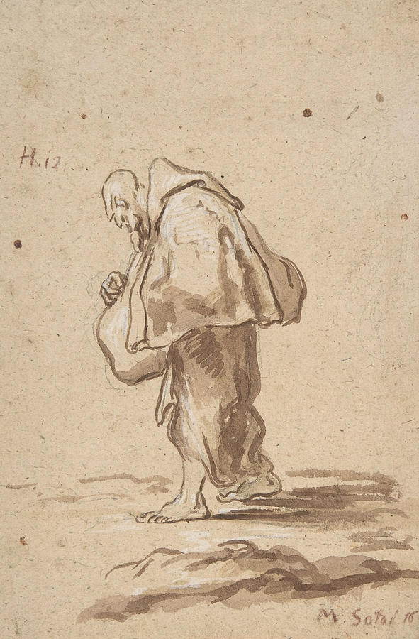 Standing Pilgrim Friar by Alessandro Magnasco