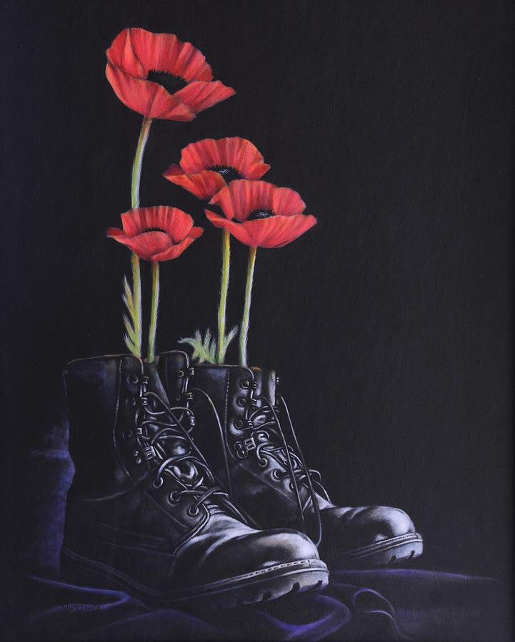 Poppy Painting - Standing Proud by Karl Hamilton-Cox