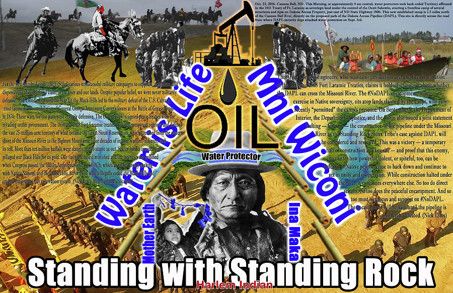 Standing Rock Digital Art - Standing With Standing Rock by Robert Running Fisher Upham