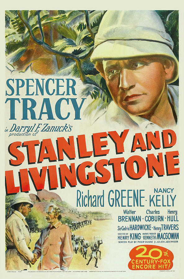 stanley And Livingstone Movie Poster, With Spencer Tracy, 1939 Mixed Media