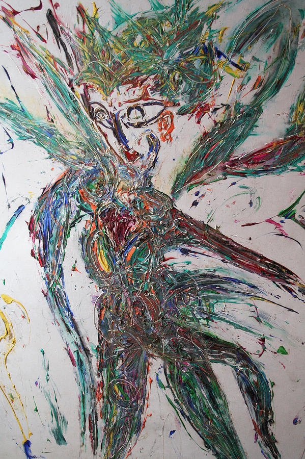 Star Dancer, close-up Mixed Media by Gary Wohlman