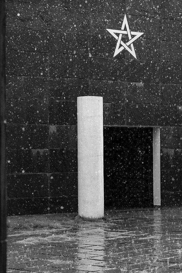 Minimalism Photograph - Star Drenched in Rain by Prakash Ghai
