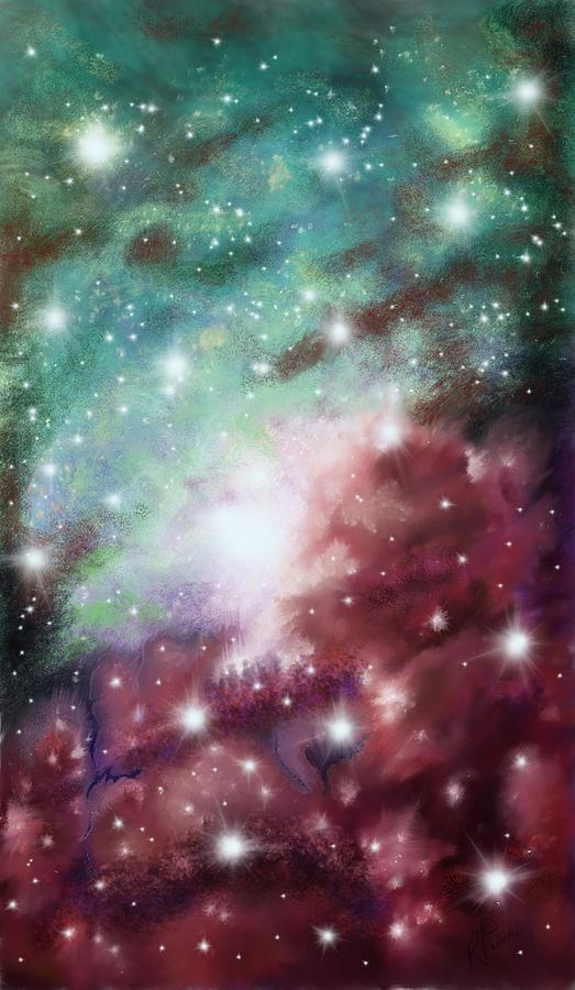 Space Digital Art - Star Stuff by Rachel Palmer