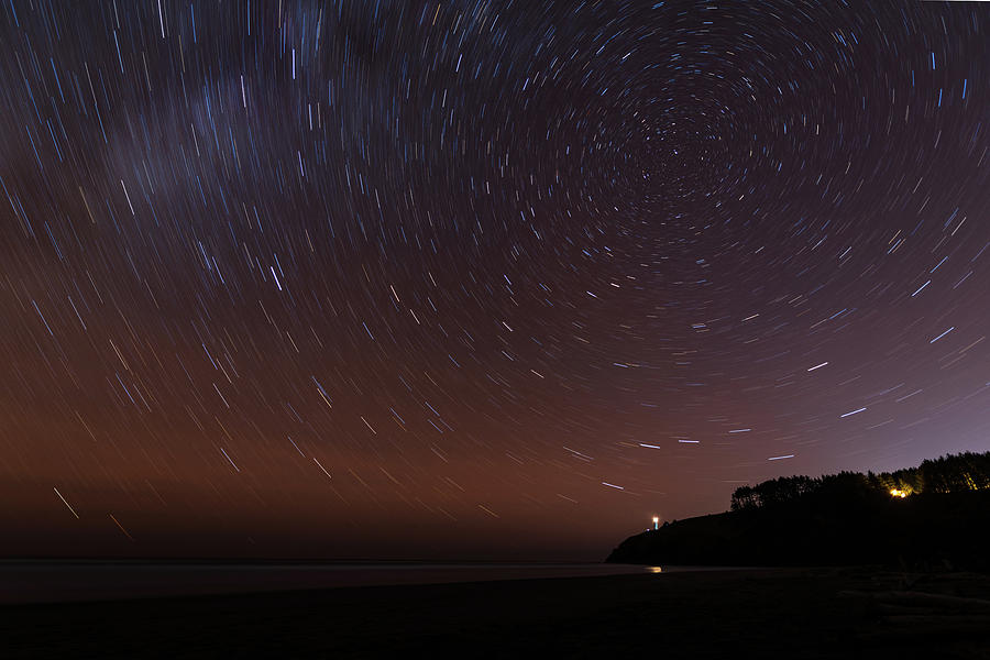 Star Trails at Cape Disappointment State Park by Michael Lee