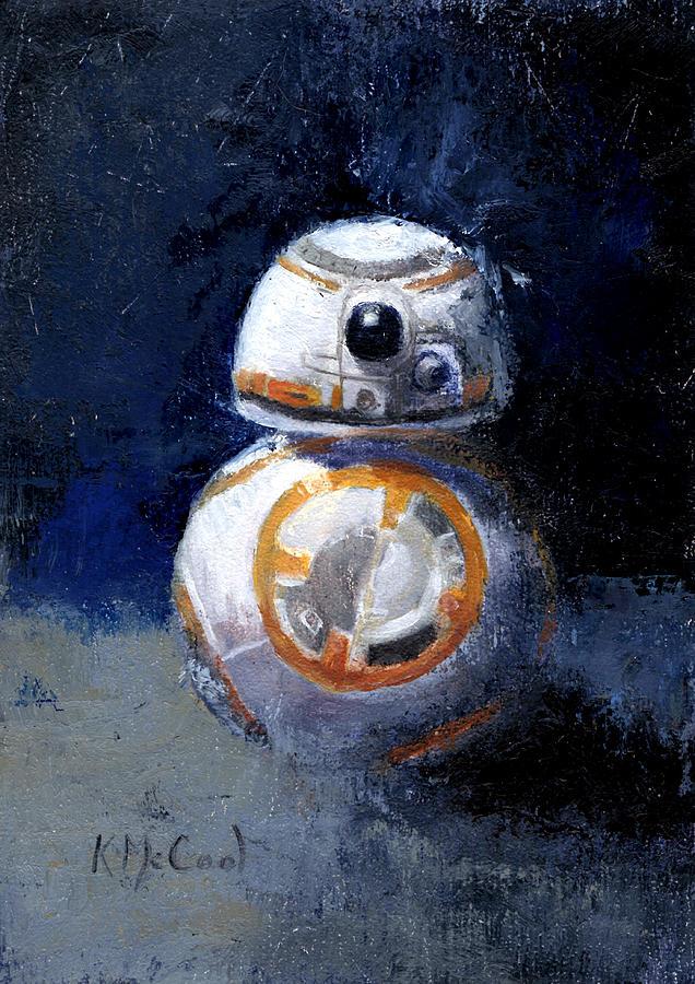 Star Wars Painting - Star Wars BB-8 by Karen McCool