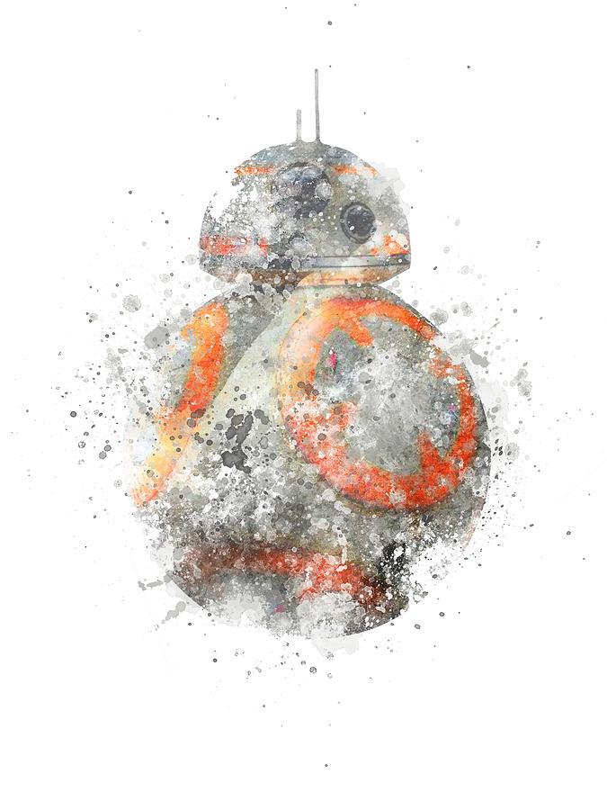 Star Wars Bb 8 Watercolor Png Digital Art