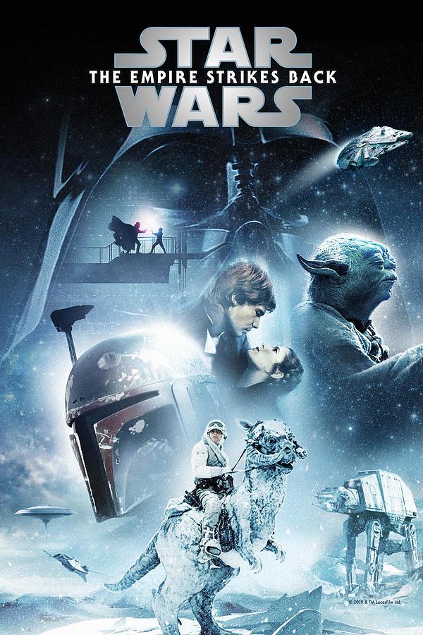 Star Wars Episode V The Empire Strikes Back 1980 Digital Art By Music N Film Prints