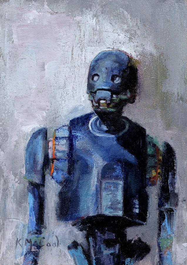 Star Wars Painting - Star Wars K-2SO by Karen McCool