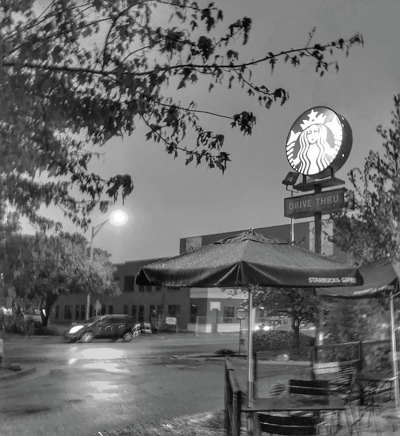 Starbucks On A Rainy Fall Day Photograph