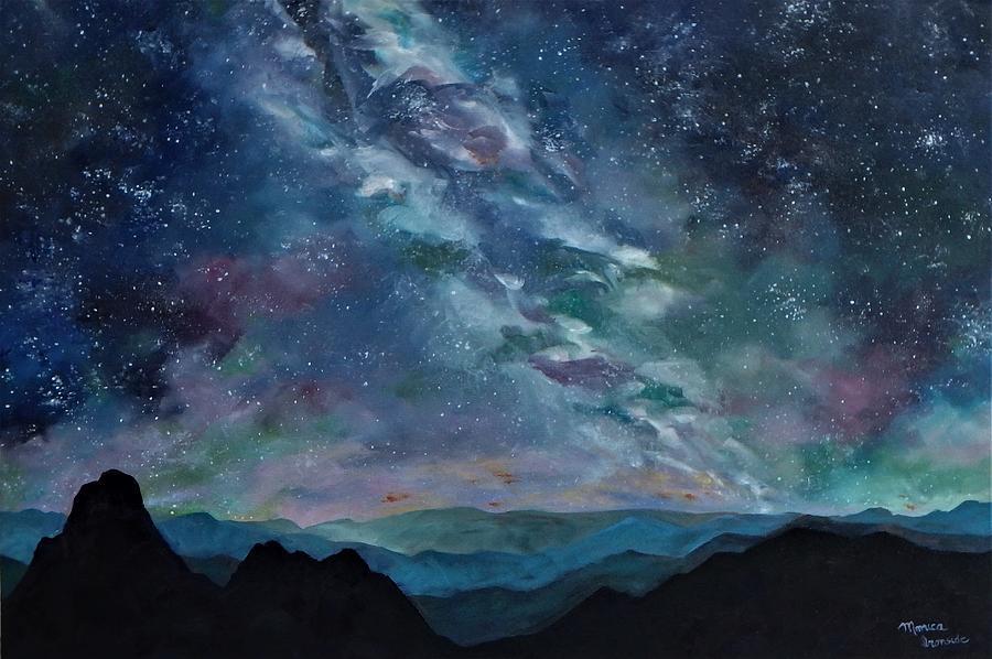 Stars Painting - Stargazer by Monica Ironside