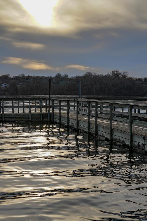 Staring Lake Dock at Sunset by Susan Rydberg