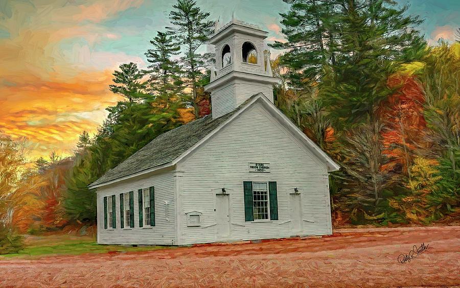 Stark Union Church.Stark New hampshire by Rusty R Smith