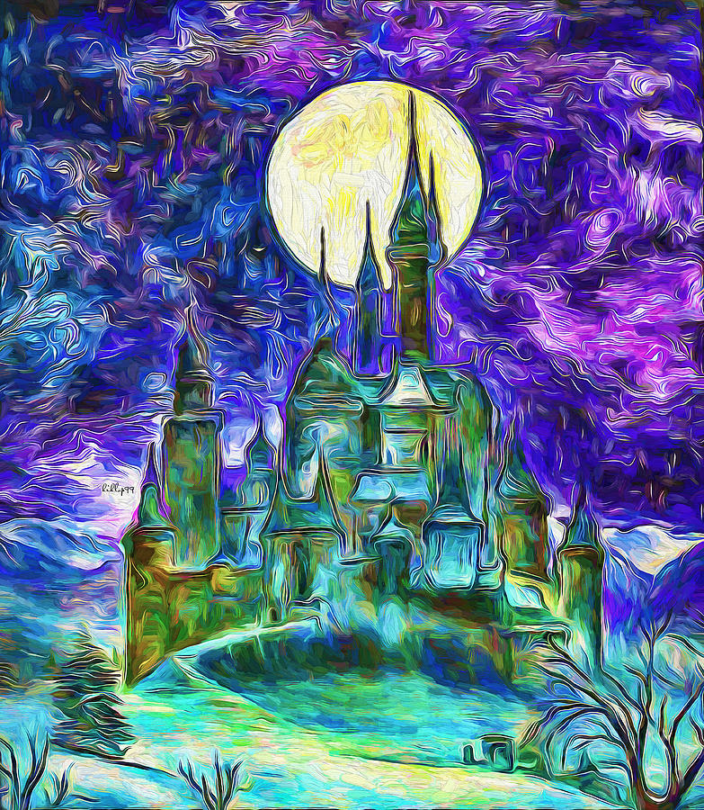 Starry Castle Painting