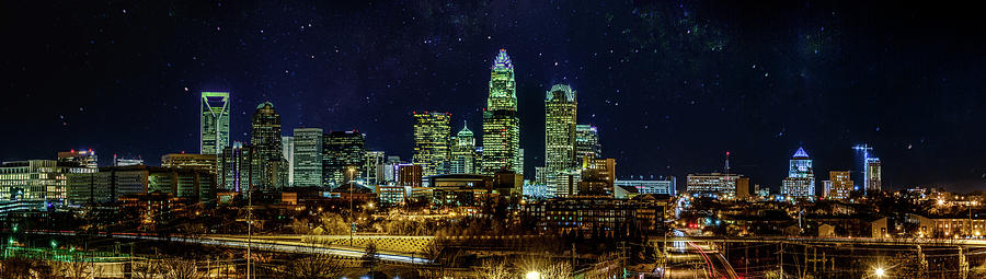 2015 Photograph - Starry Night In Charlotte by Randy Scherkenbach
