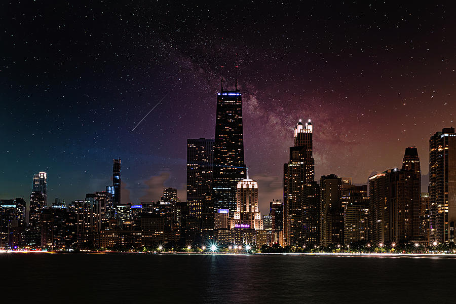 Starry Night in Chicago by Randy Scherkenbach