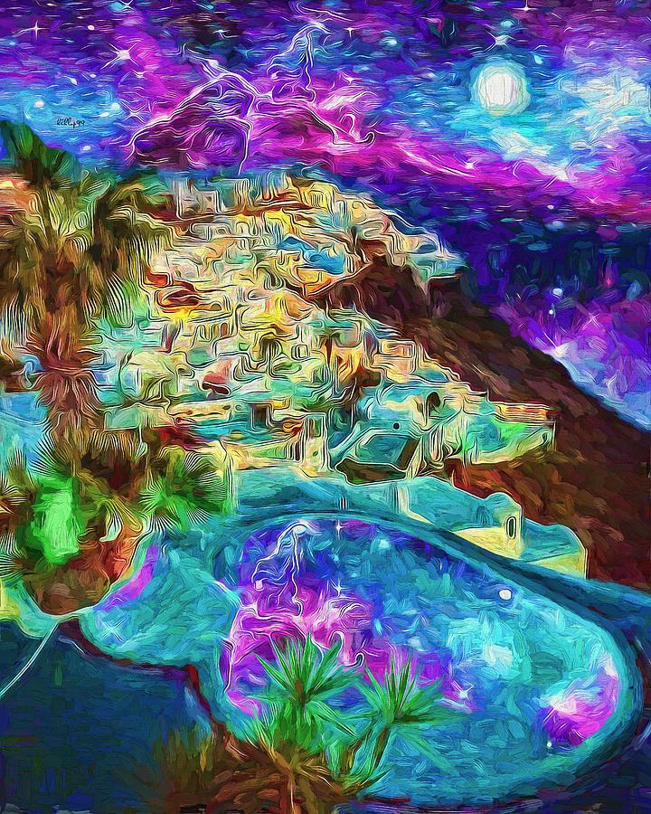 Starry night in Santorini by Nenad Vasic