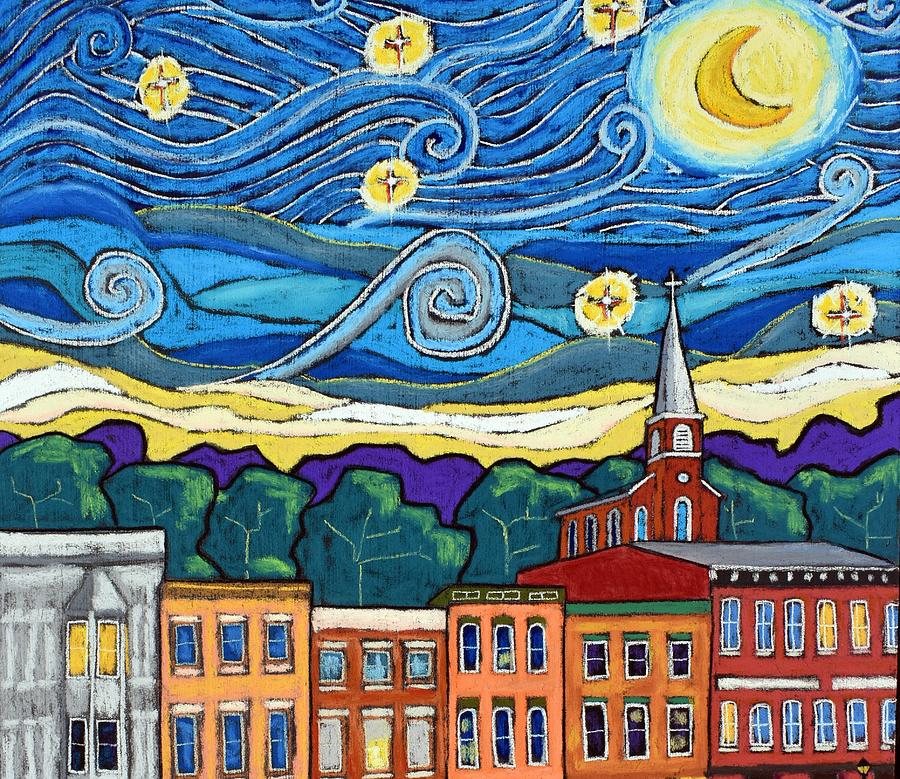 Starry Night Over Galena - Crop Painting