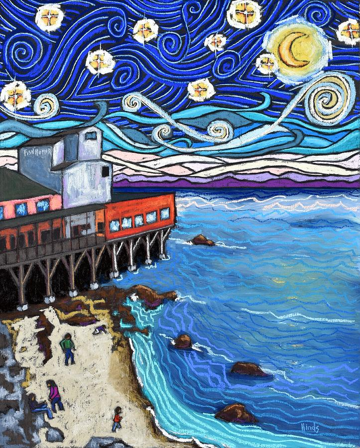Starry Night Over Monterey Bay Painting