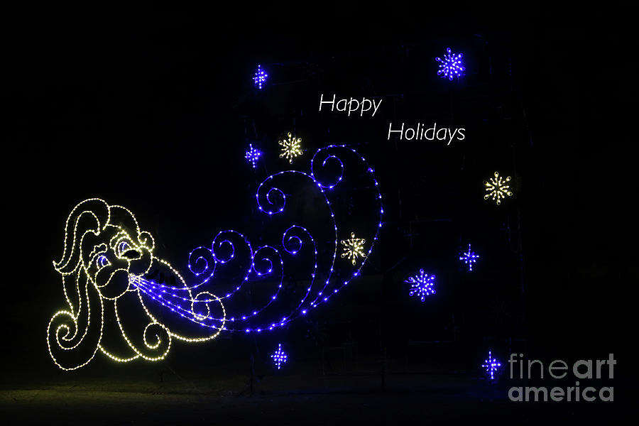Starry Night with greeting by Ann Horn