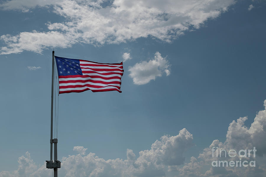 Stars And Stripes Over Fort Moultrie Photograph