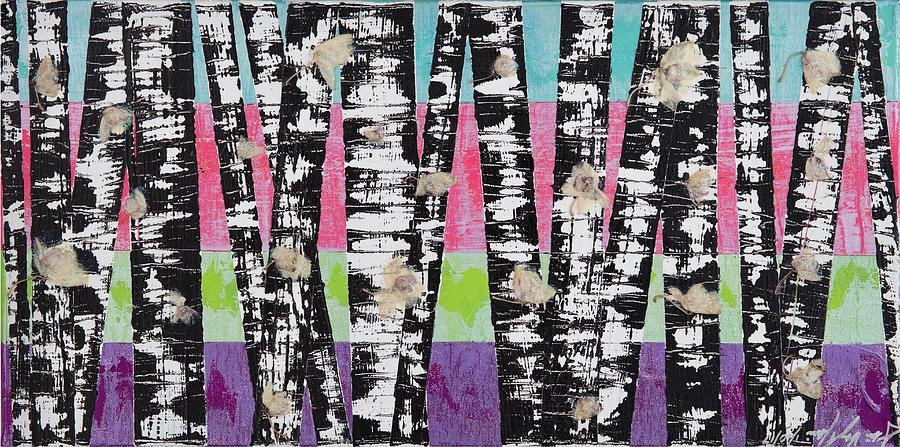 Stars Mixed Media - Stars And Trees by AliciaKay