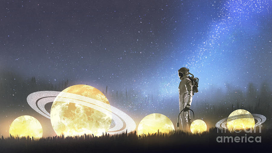 Stars On The Ground Painting