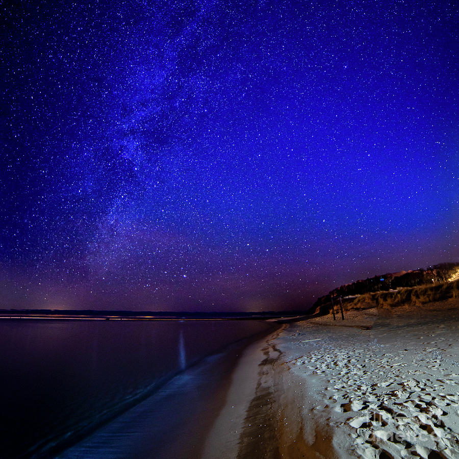 Stars Over Frankfort Beach 1x1 Photograph