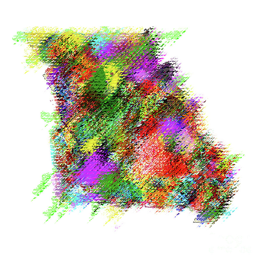 State Of Missouri Pastel abstract by Genevieve Esson