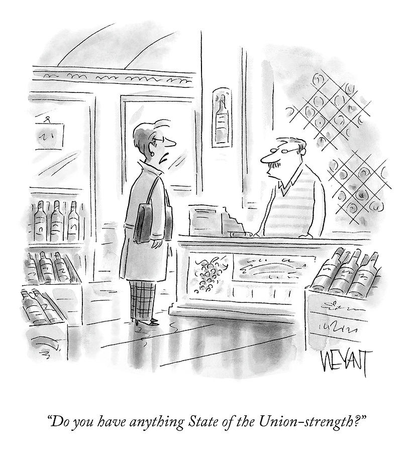 State Of The Union-strength Drawing by Christopher Weyant