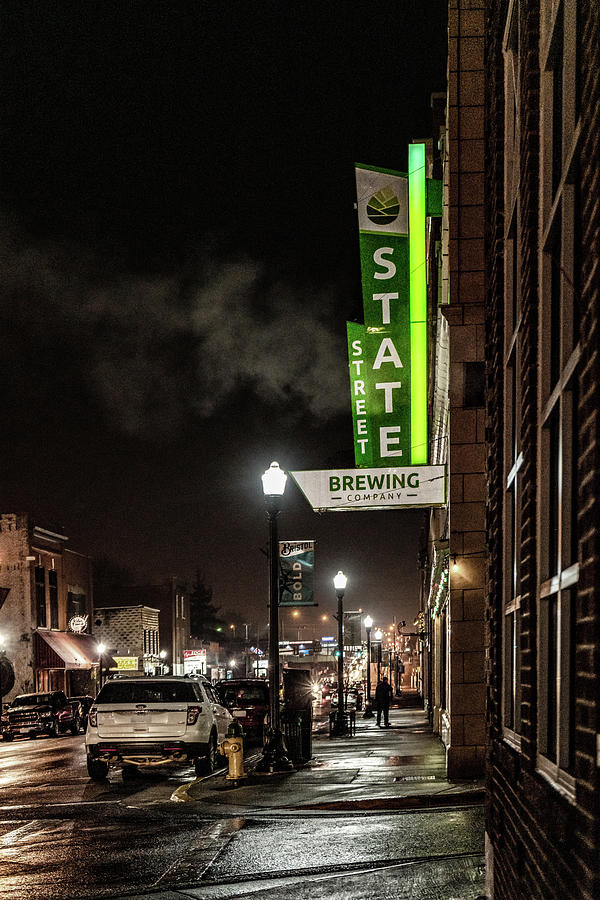 State Street Brewing Marquee by Sharon Popek