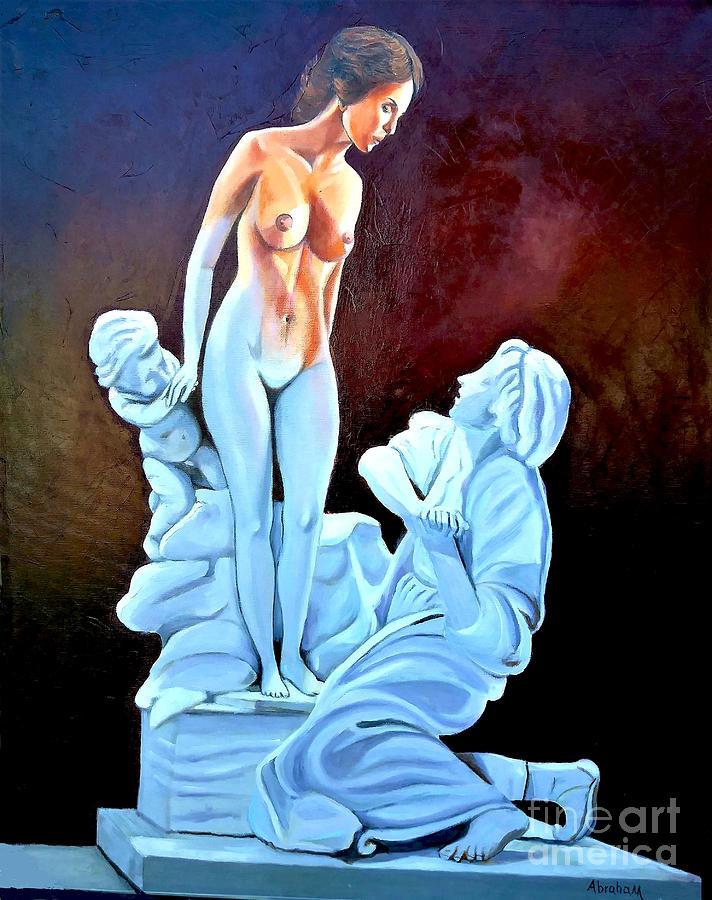 Women Painting - Statue 2 by Jose Manuel Abraham