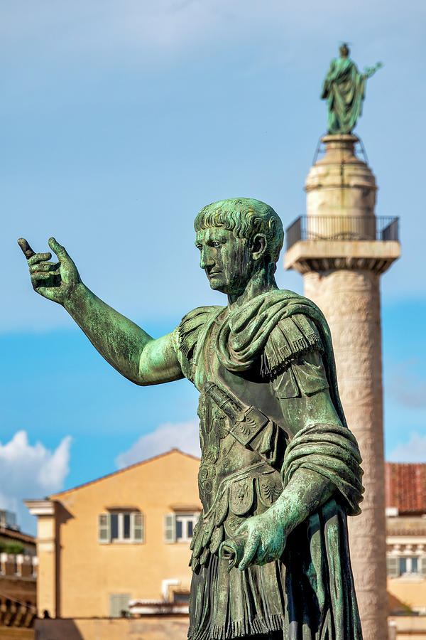 Statue and Column of Emperor Trajan  by Fabrizio Troiani