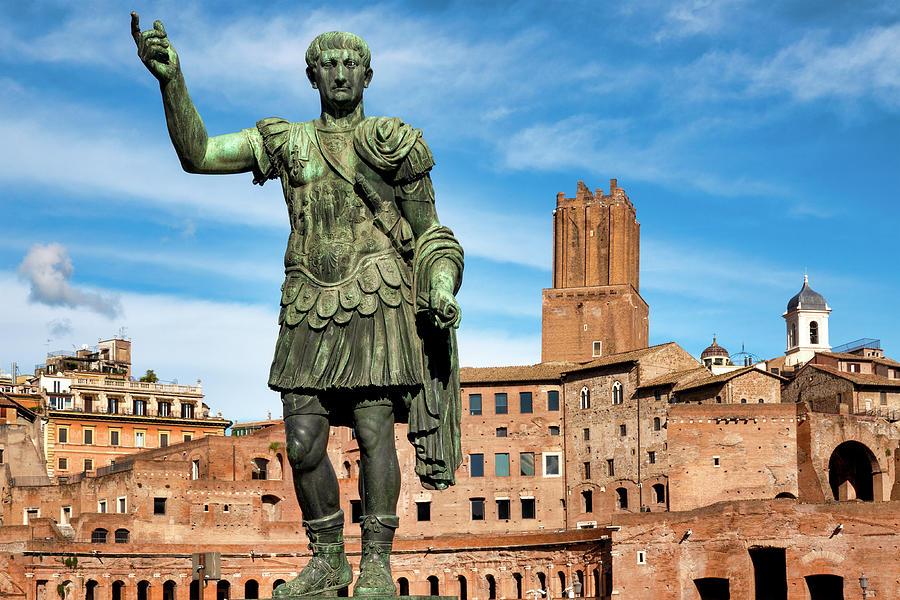 Statue of Emperor Trajan by Fabrizio Troiani