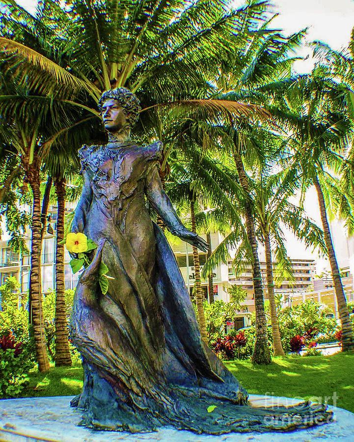 Statue of, Hawaii Crown Princess Victoria Kawekiu Lunalilo Lunalilo by D Davila
