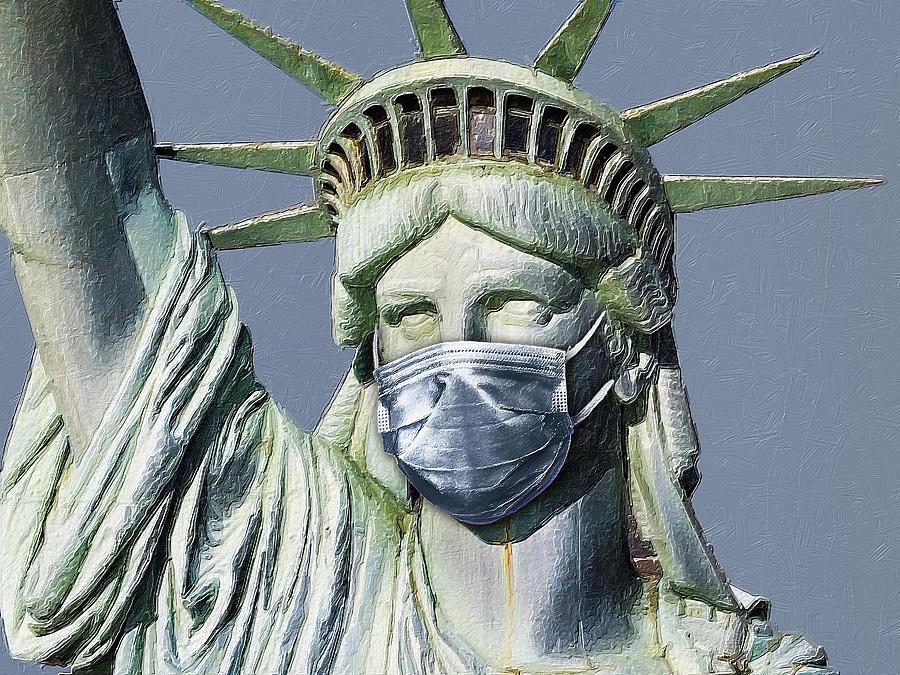 Statue Of Liberty Corona Virus Photograph