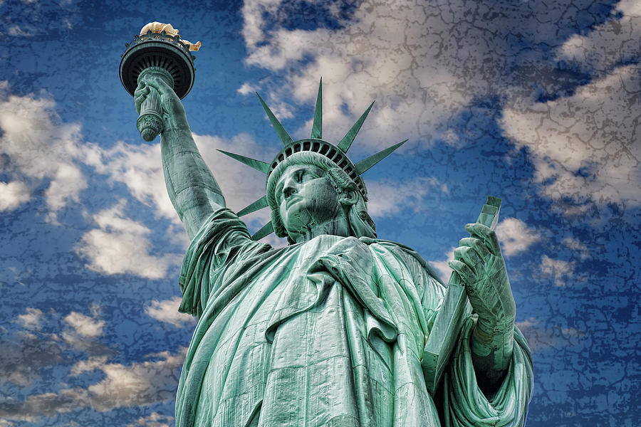 Statue Of Liberty Textured Photograph
