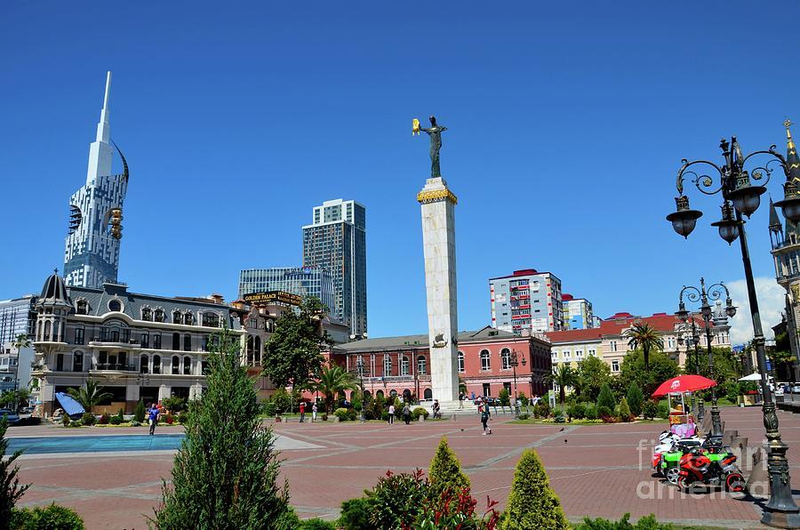 Statue of Medea goddess Europe Square architecture Batumi Georgia by Imran Ahmed