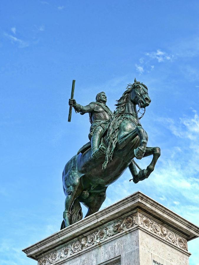 Statue Of Felipe I V  # 2 - Madrid Royal Palace Photograph