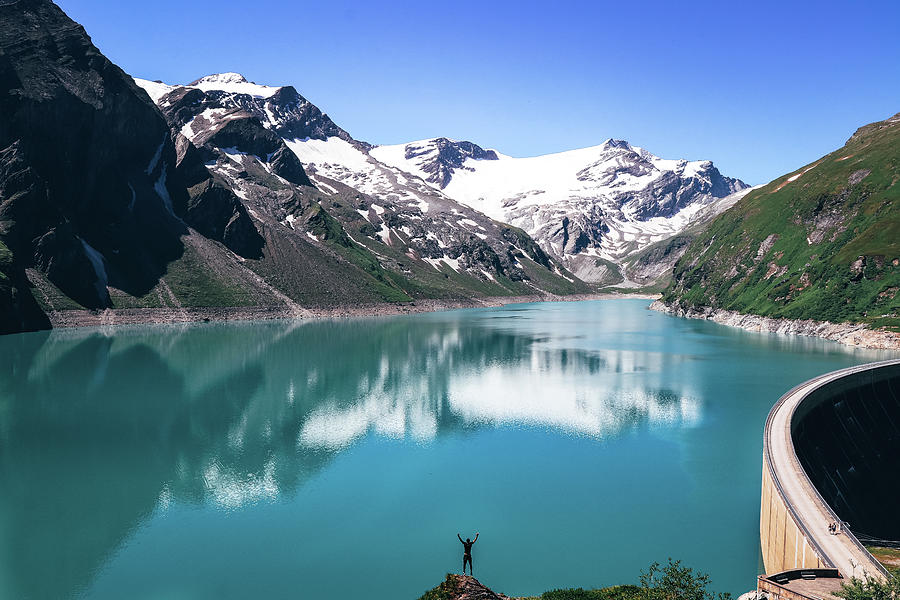 Stausee Mooserboden In Austria Photograph